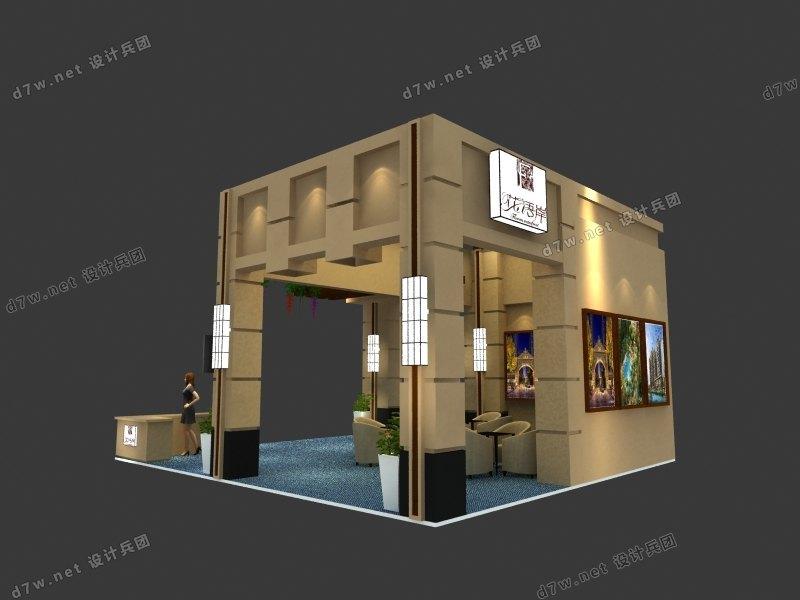 8x9成都房交会 - 设计兵团_展台模型_3d模型_展台展厅