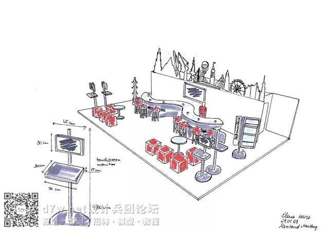 30个手绘展台集合 - 设计兵团_展厅_博物馆设计_展览