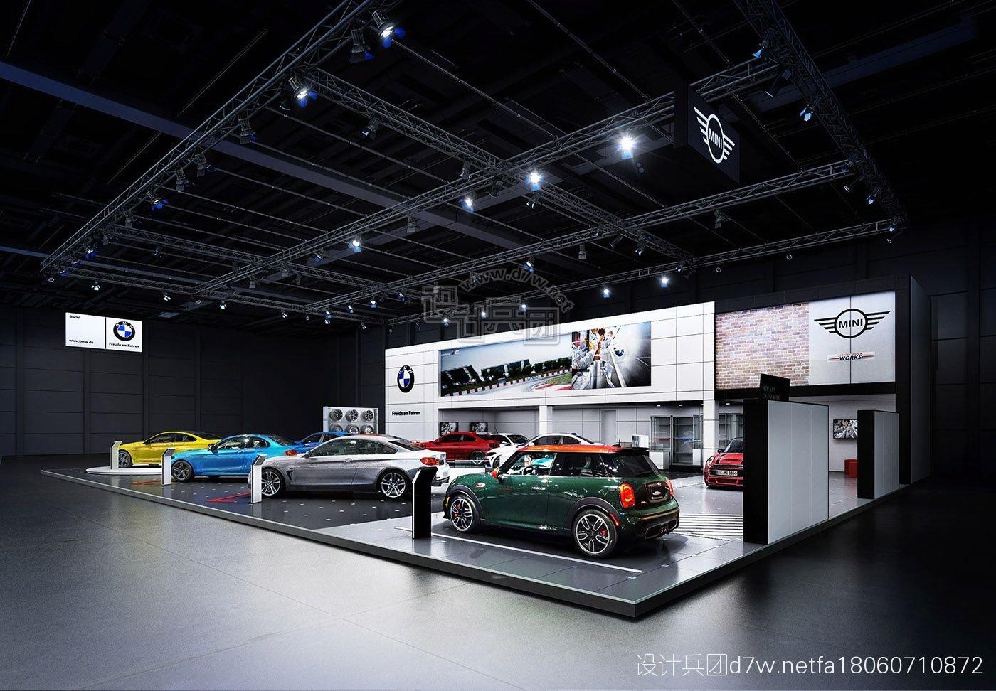 白兵3d数据_BMW STAND visualization project-Bologna Motor Show(博洛尼亚车展) - 设计 ...