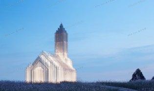 成都中法科技園教堂——上海大椽建筑設計事務所緯圖設計機構