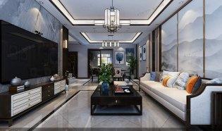 新中式风格装修设计效果图,张家界中达装饰,张家界装潢设计公司,专业装修设计团队,