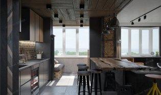 碧桂园室内设计效果图工业混搭设计实拍图片室内设计张家界装潢设计公司