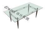 长方形玻璃桌