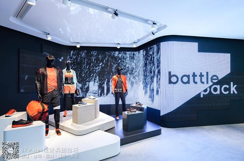 """白兵3d数据_阿迪达斯和锐步共同的""""家"""" - 设计兵团_展厅_博物馆设计_展览 ..."""